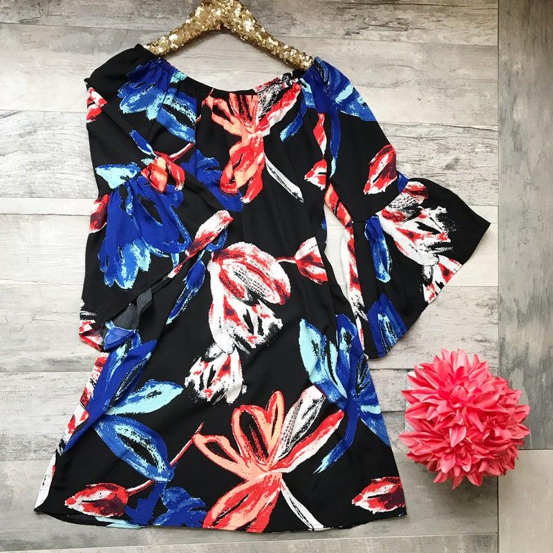 Black Floral Royal Dress