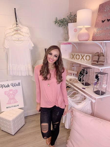 Just Be Beautiful Baby Pink Knot Top