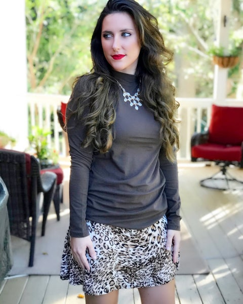 Leopard Flair Skirt