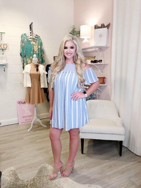 Baby Blue  Stripe Dress