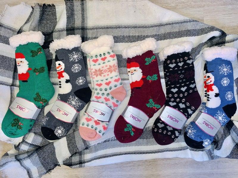 Winter Wonderland Sherpa Slipper Socks