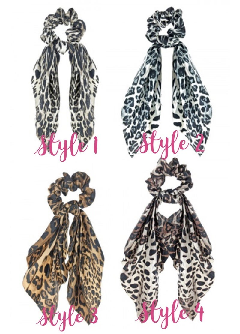 Layer Me Lovely Animal Print Scrunchies Scarf