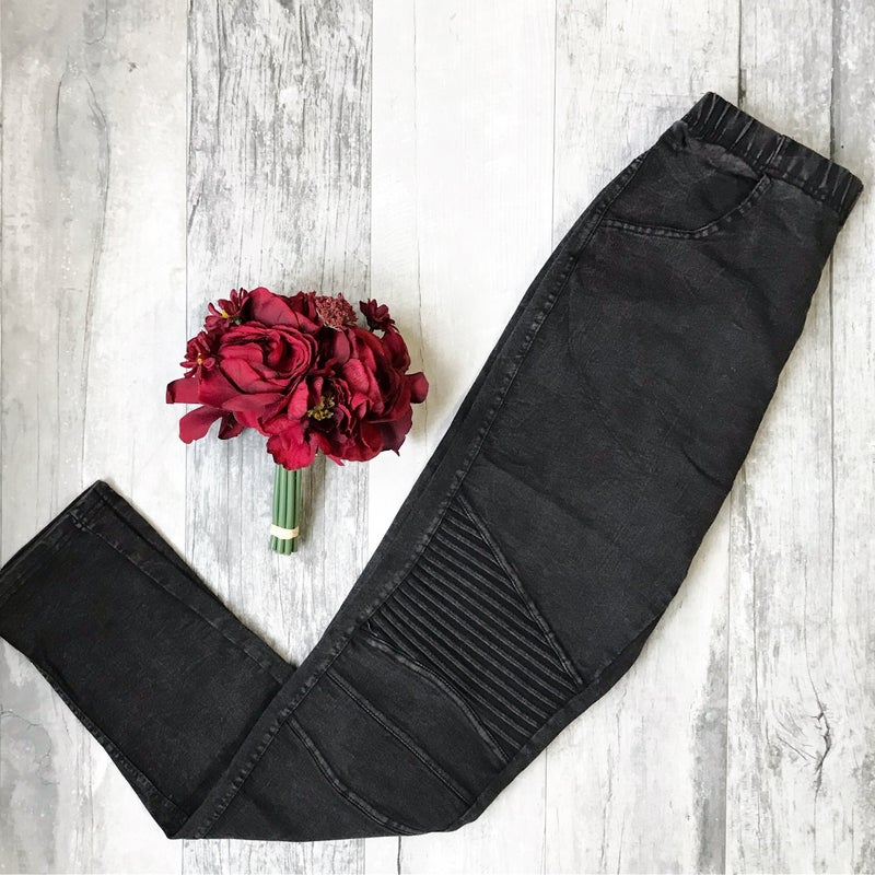 Stone Washed Motto Pants