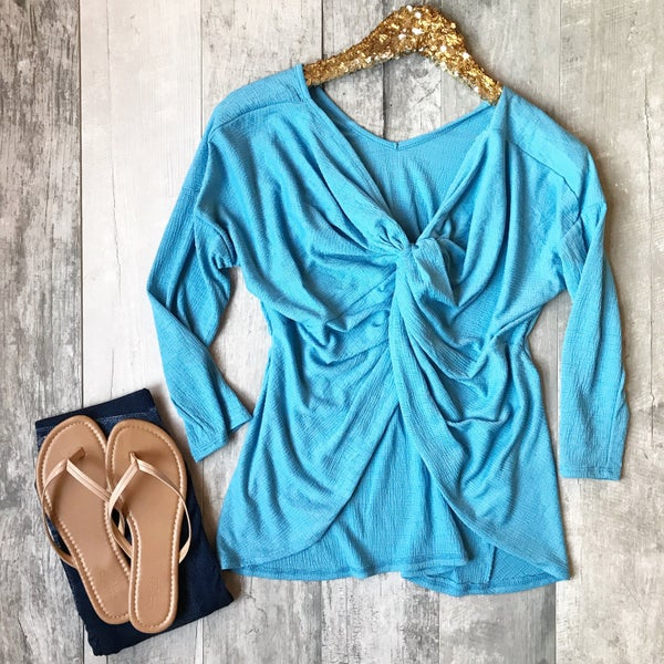 Blue Knot Top