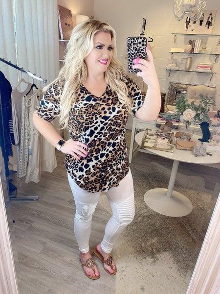 Living Wild Leopard Print Tee *Final Sale*