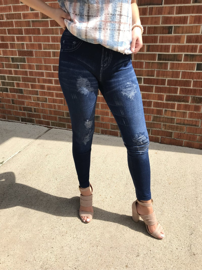 jeggings distressed