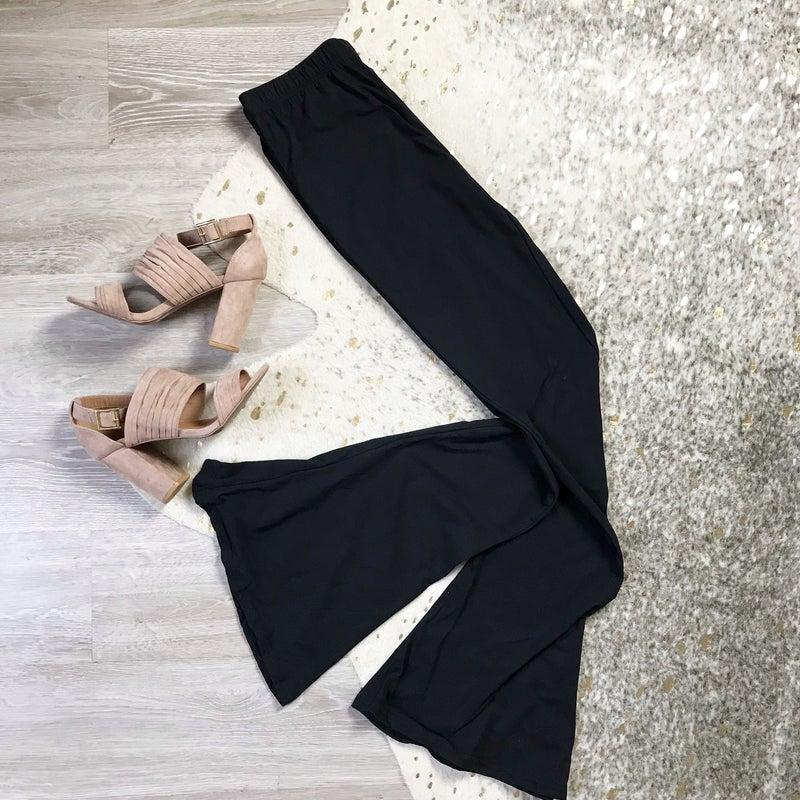 Black Stretch Flare Pants