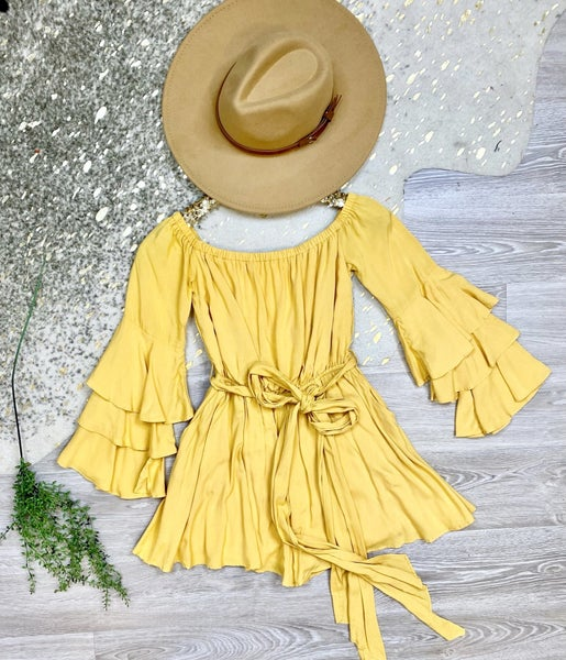 Call Your Bluff Yellow Romper