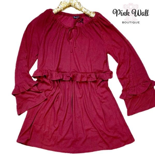 Hallmark Happy Wine Ribbed Dress