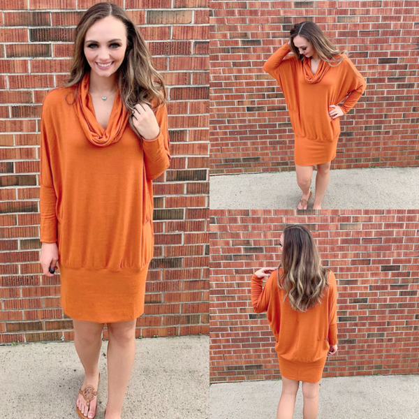 Autumn Dusk Dreams Sweater Dress