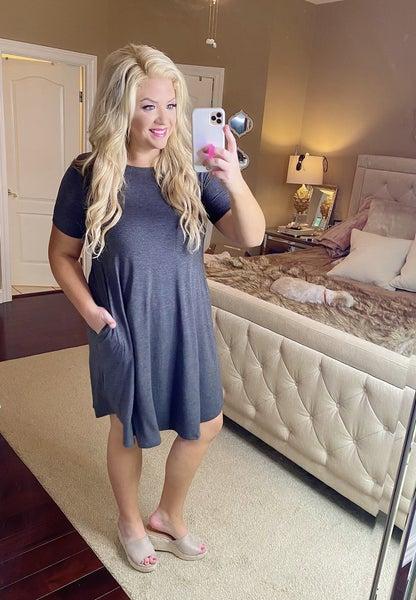 Charcoal Pocket Dress
