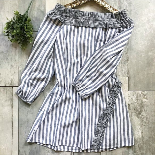 Navy and White Stripe Dress *Final Sale*