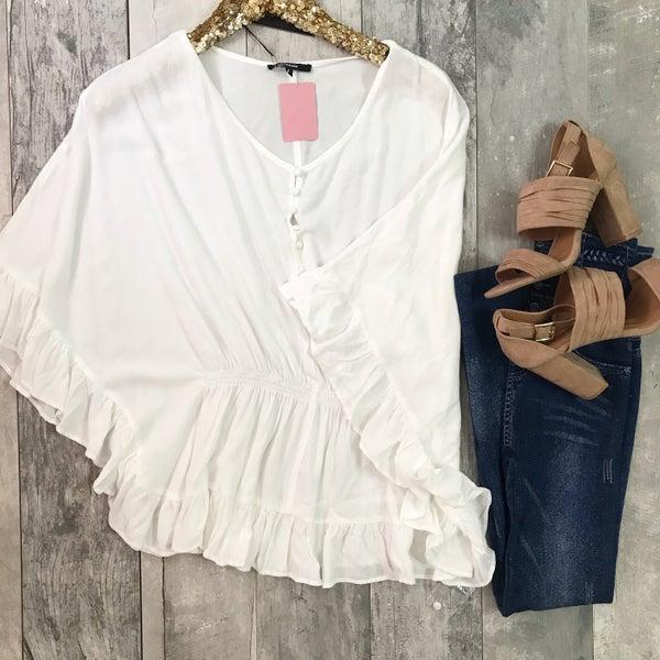 White Poncho Top