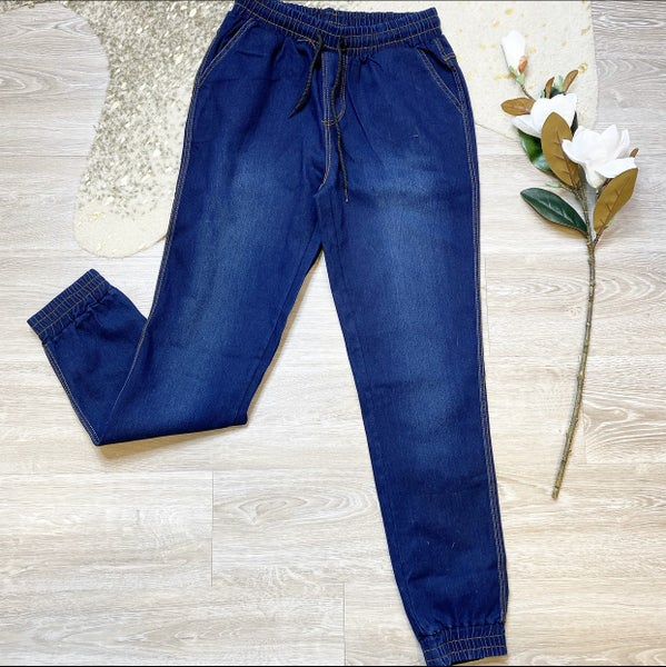 Low Tide High Waisted Denim Joggers