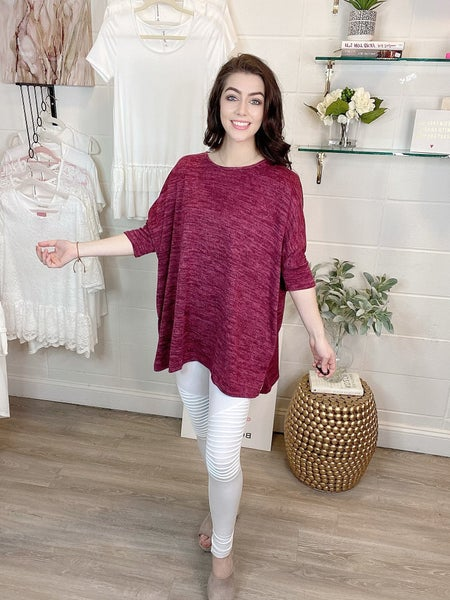 Be My Hope Hacci Pocket Tunic Red