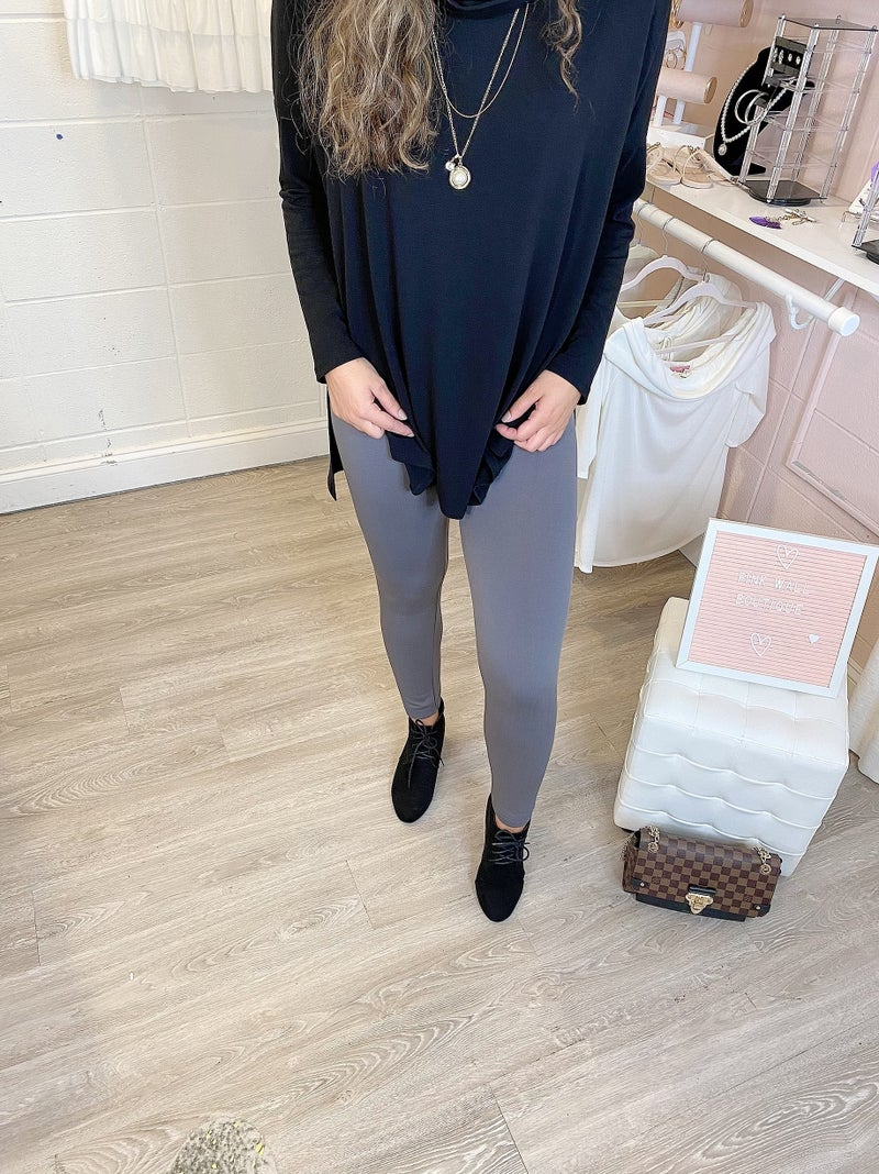 Thick Charcoal Leggings *Final Sale*