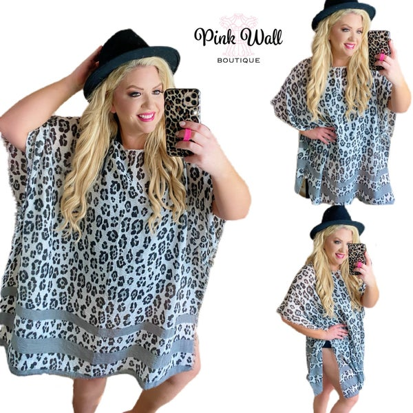 Lounge By The Pool Leopard Swimsuit Coverup