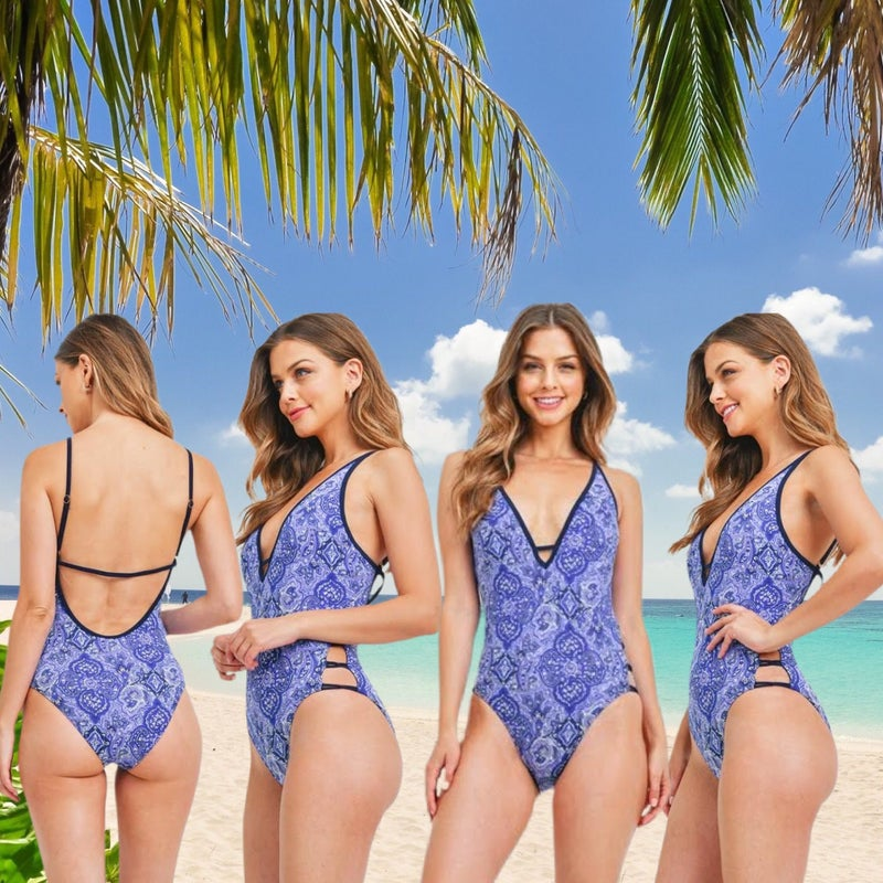 Take Me Away Navy and Blue Bathing Suit *Final Sale*