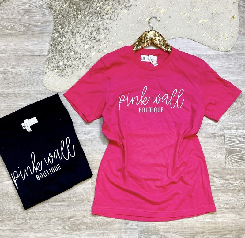 Girl Power Pink Wall Tees