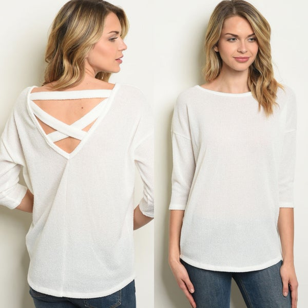 Ivory Top with Back Detail