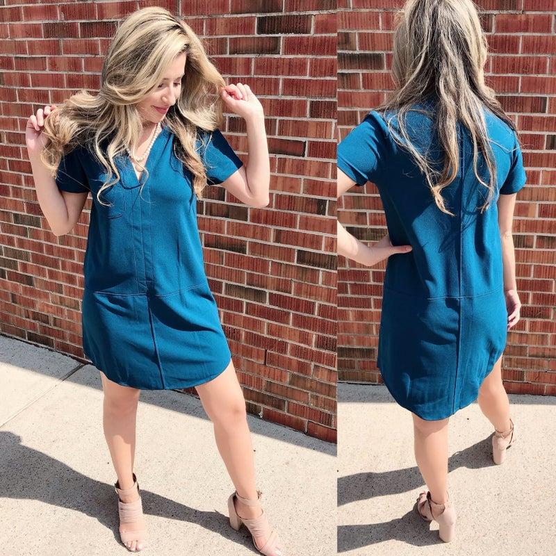 Riverside Blue Pocket Dress