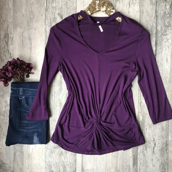Purple Twisted Top
