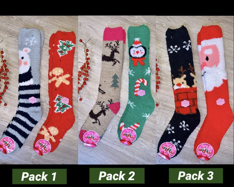 Baby it's Cold Outside Tall Christmas Socks