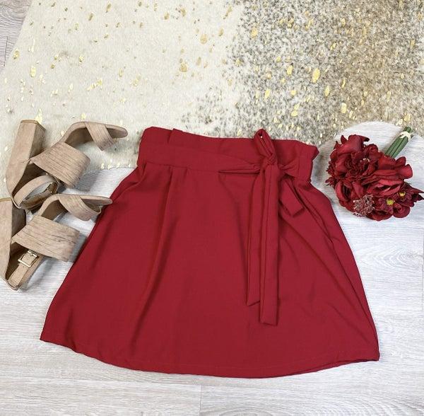 Wine And Dine Me Wine Skirt