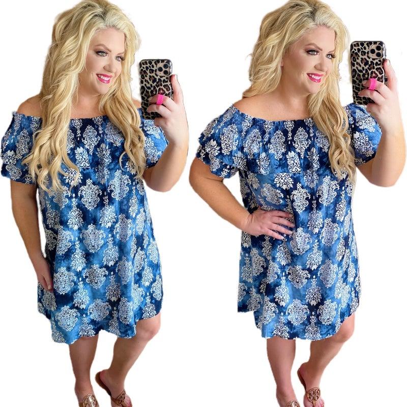 Always Sand Forever Blue Dress