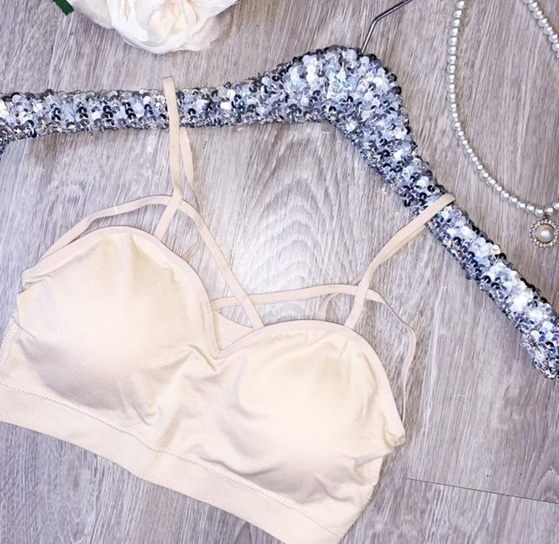 Getting Strappy Nude Bralette