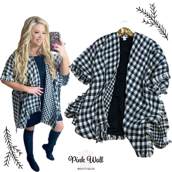Winter Night Out Plaid Sweater Ivory Black