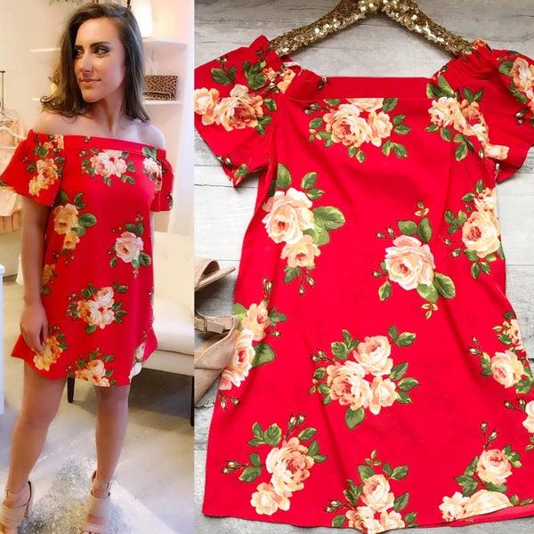 Floral Coral Dress *Final Sale*