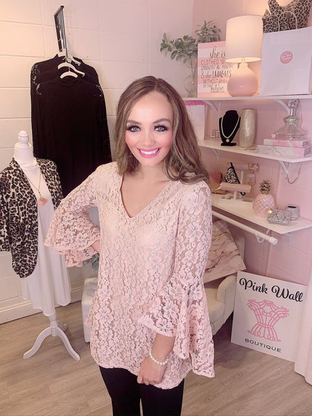 Reliving The Romance Blush Lace Dress
