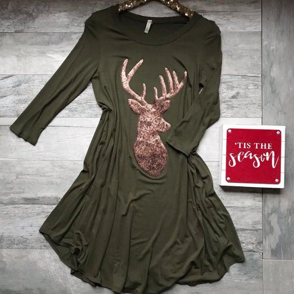 Reindeer Sequin Dress *Final Sale*