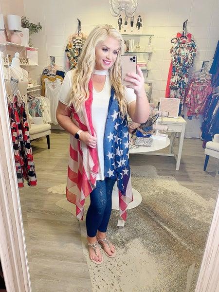 American Flag Open Vest