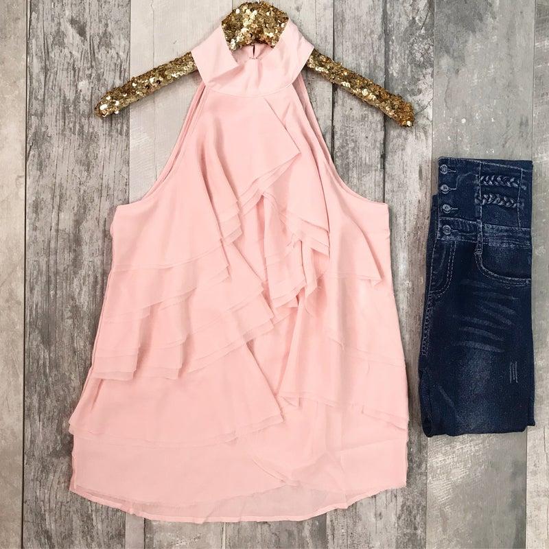 Baby Pink Ruffle Top