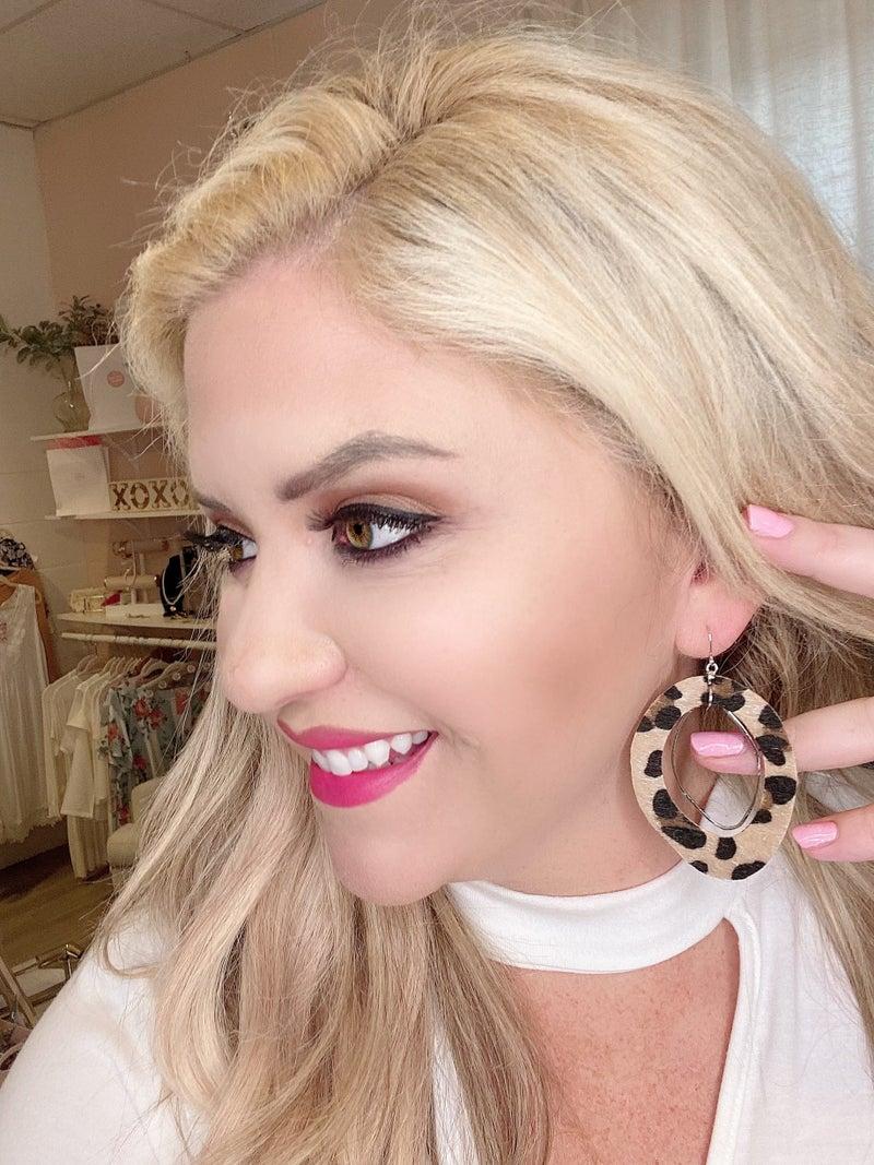 Leopard Silver Earrings *Final Sale*