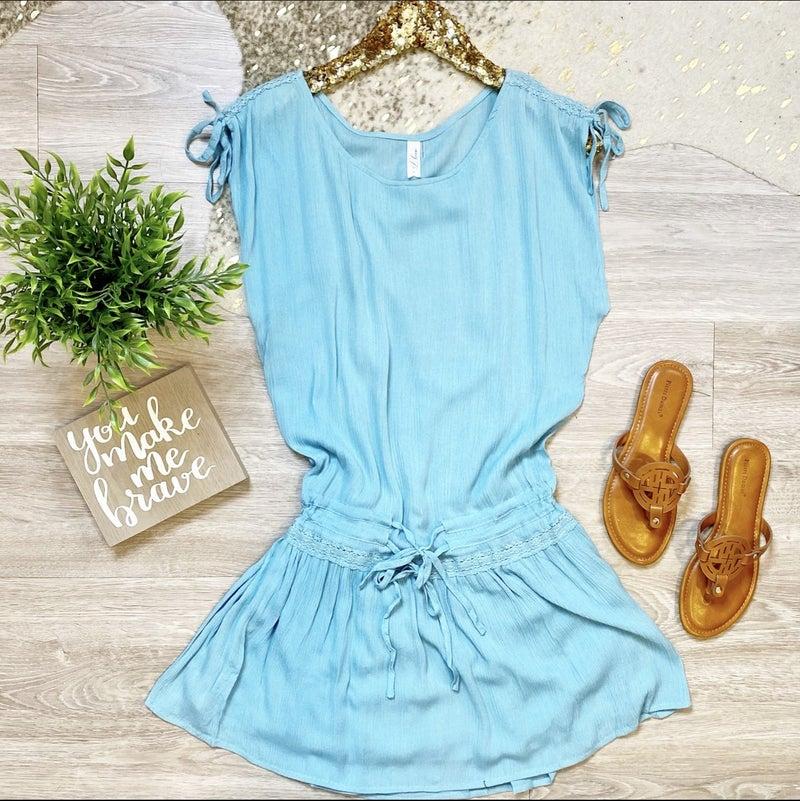 Always Be My Baby Blue Tunic Dress