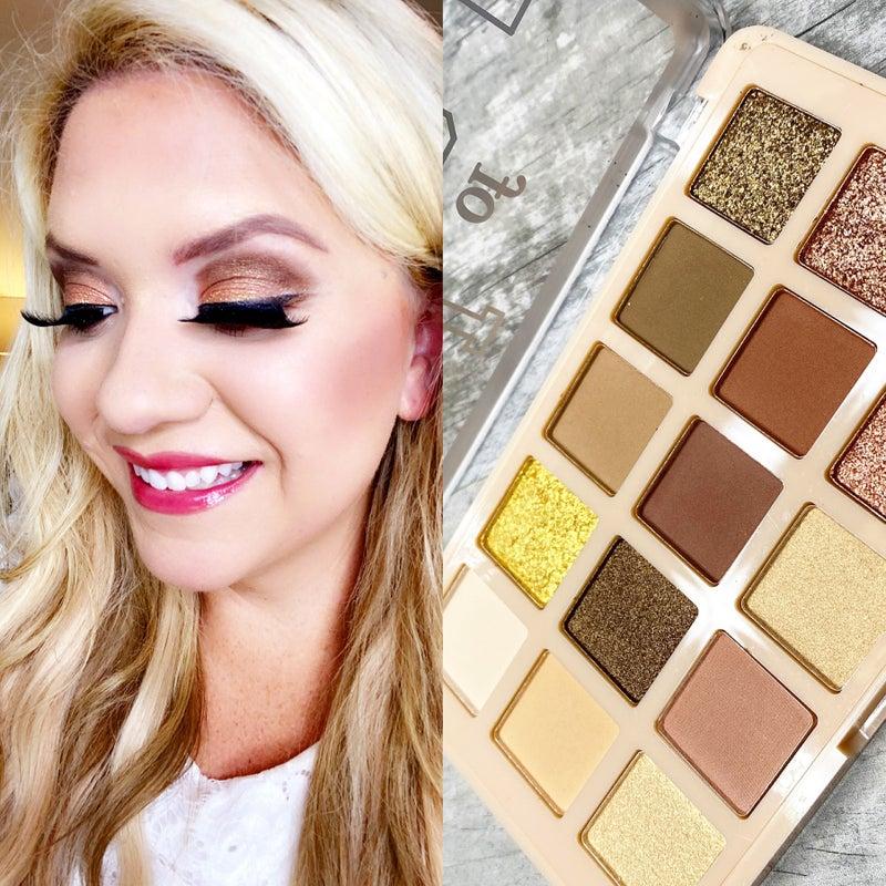 Beauty by Brittany 15 Neutral Sparkly Eyeshadow Pallet Dark *Final Sale*