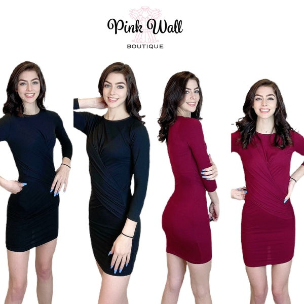 Foxy Lady Ruched Bodycon Dress *Final Sale*