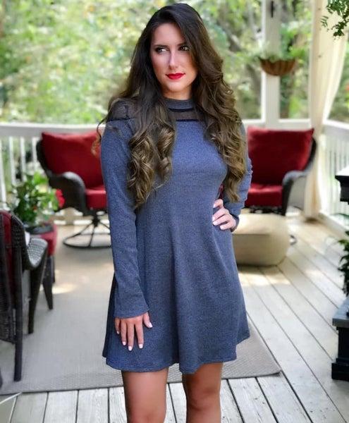 Charcoal Knit Dress *Final Sale*