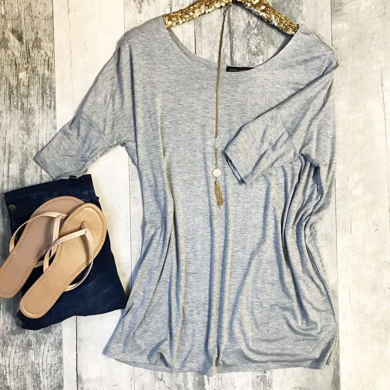 Grey Tunic Top