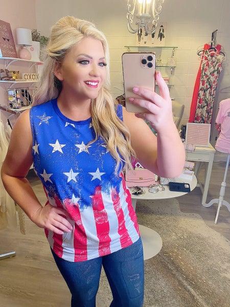 USA Flag Tank