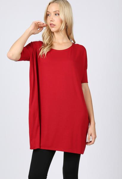 Brand New Day Oversized Tunic Dark Red *Final Sale*