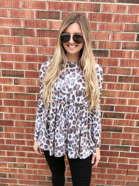We Can Be Forever Cheetah Print Round Neck Top
