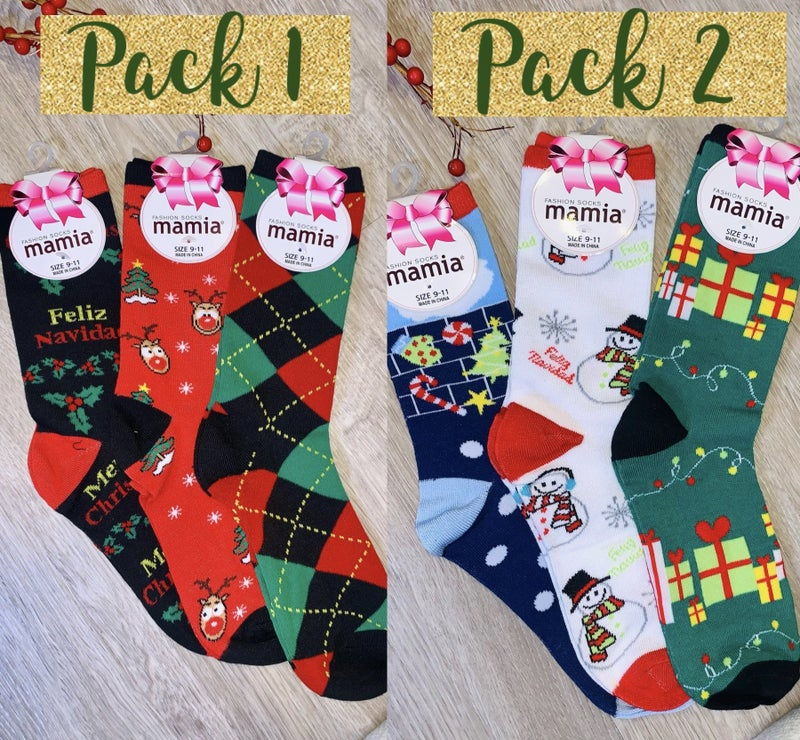 All I Want for Christmas Printed Crew Socks