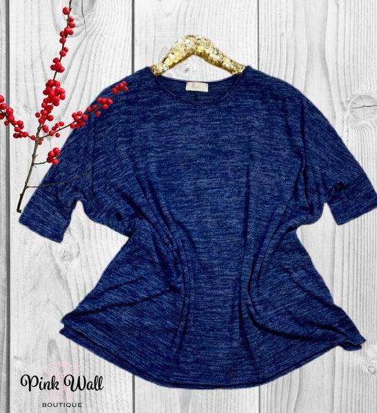 Be My Hope Hacci Pocket Tunic Blue