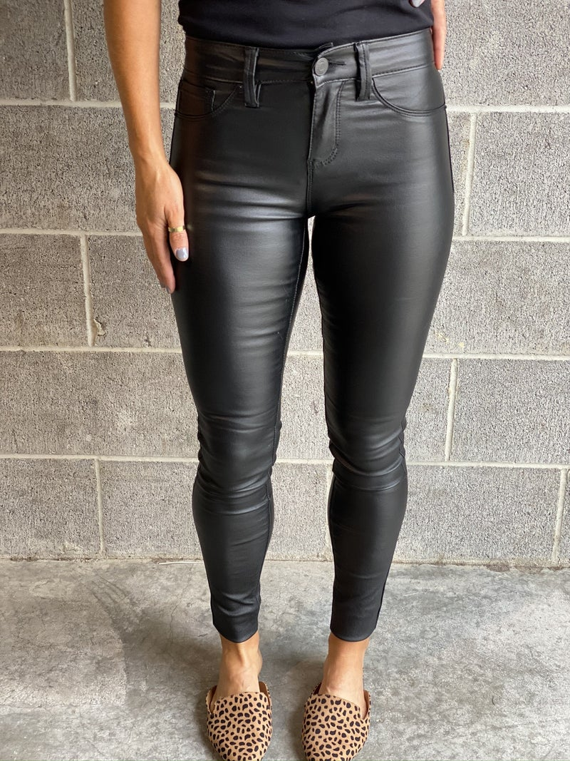 Black faux Leather Skinnies