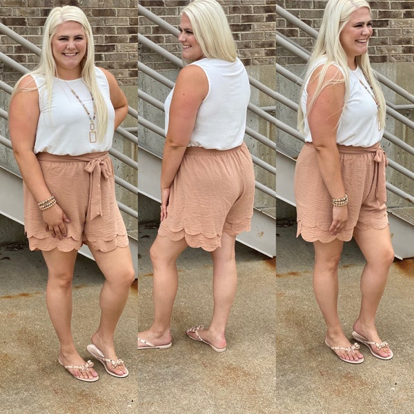 A Matter of Time -Plus Size Shorts