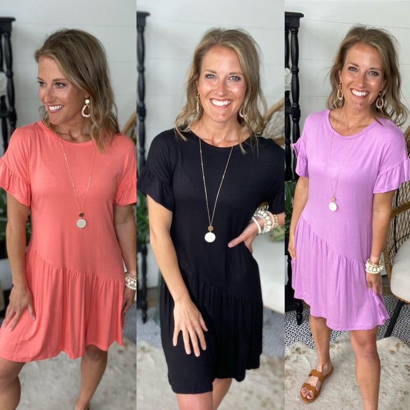 Thrills and Frills Dress | 3 Colors